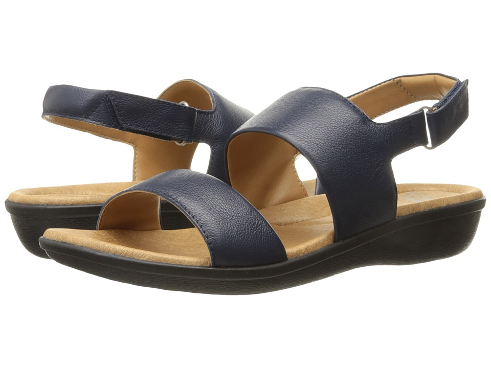 Clarks - Manilla Penna (Navy Leather) Women's Sandals