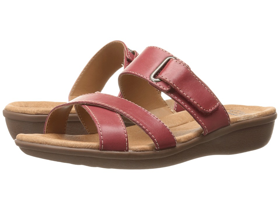 Clarks - Manilla Pluma (Red Leather) Women's Sandals