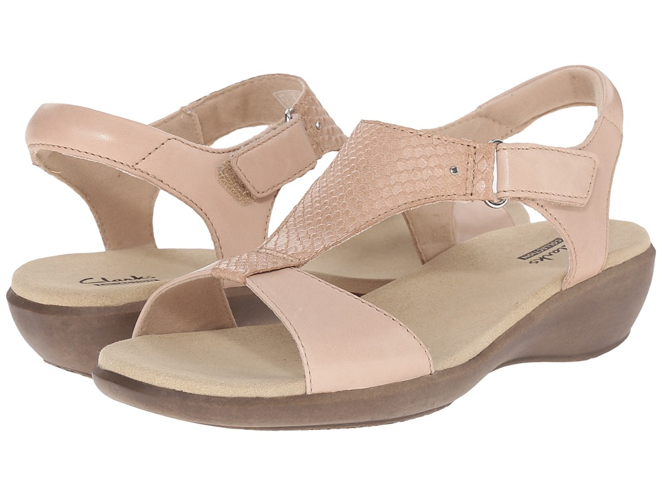 Clarks - Roza Pine (Nude Leather) Women's Sandals