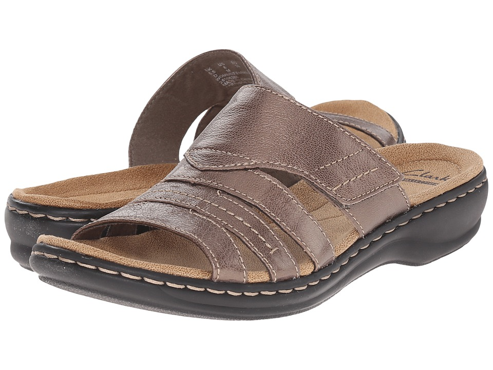 Clarks - Leisa Grove (Pewter Leather) Women's Sandals