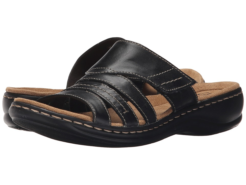 Clarks - Leisa Grove (Black Leather) Women's Sandals