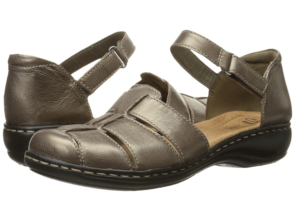 Clarks - Leisa Wave (Pewter Leather) Women's Sandals