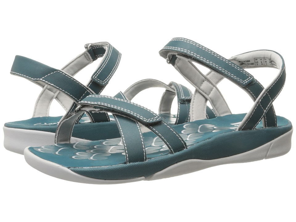Clarks - Tresca Trace (Teal Synthetic) Women's Sandals