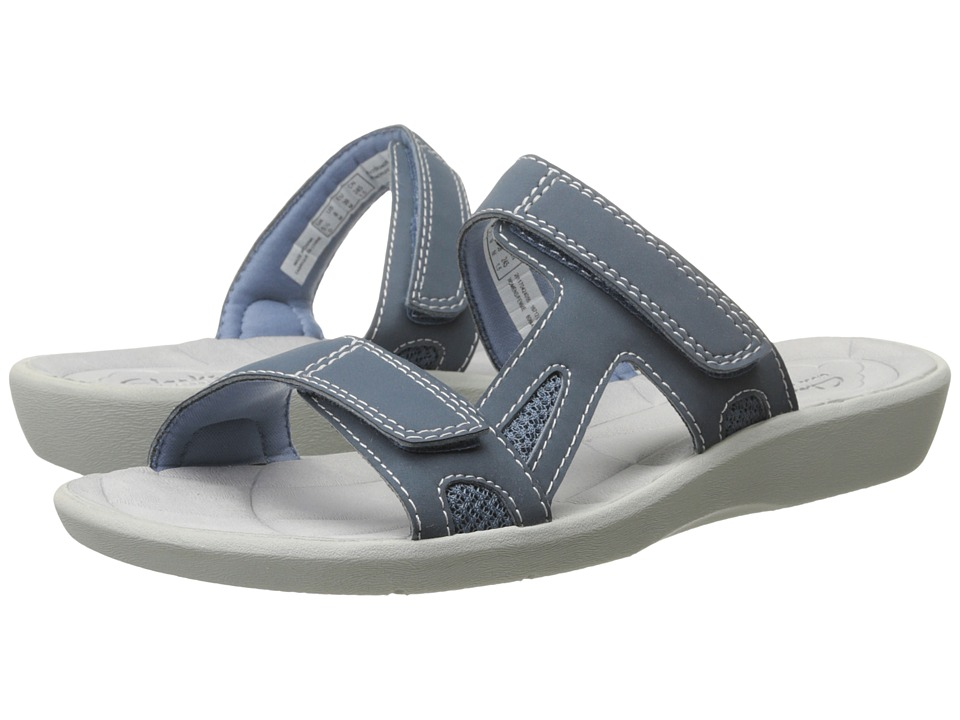 Clarks - Sillian Wonder (Blue Synthetic) Women's Sandals