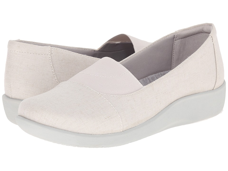 Clarks - Sillian Sune (White Linen) Women
