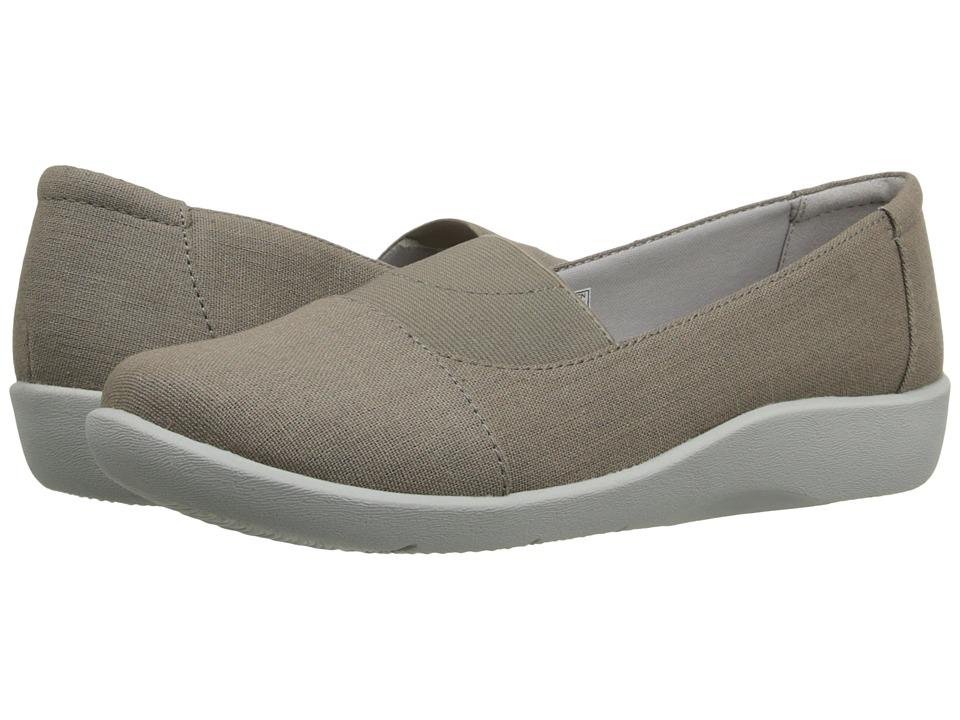 Clarks - Sillian Sune (Sage Linen) Women's Flat Shoes