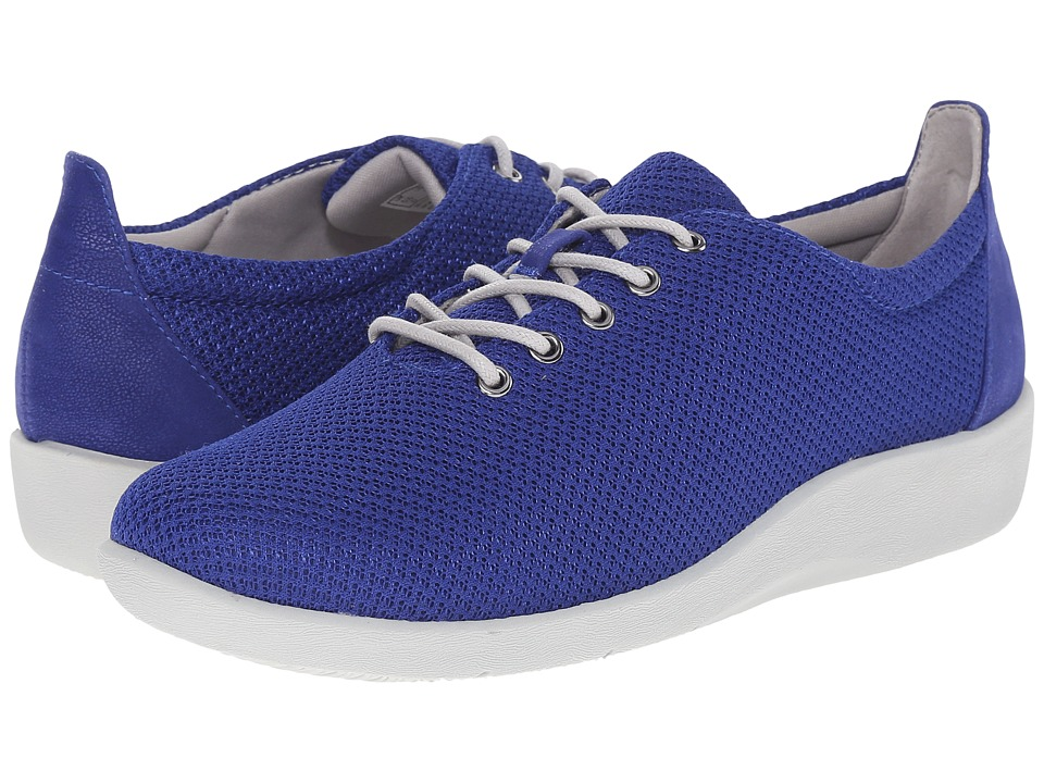 Clarks - Sillian Tino (Blue Synthetic) Women
