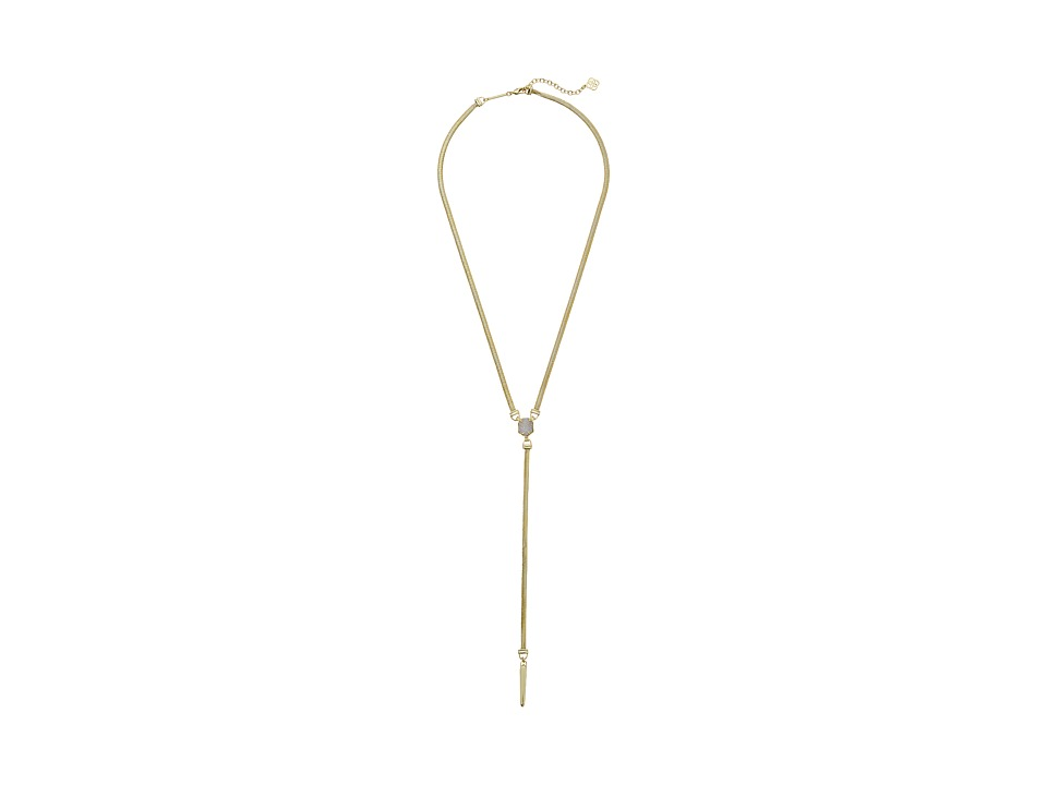 Kendra Scott - Starla Necklace (Gold/Iridescent Drusy) Necklace
