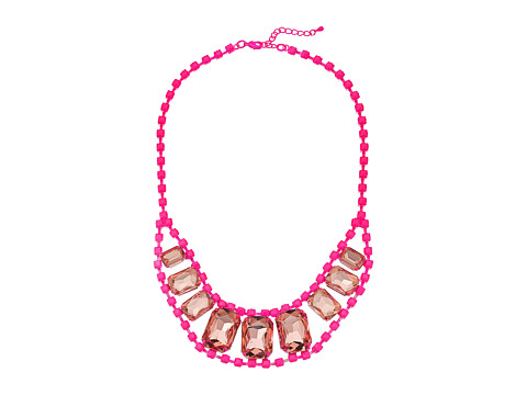 Gypsy SOULE - Centered Crystals Necklace (Neon Pink) Necklace