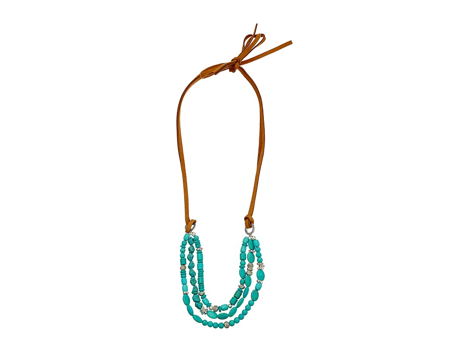 Gypsy SOULE - Leather Turquoise Stone Necklace (Turquoise) Necklace