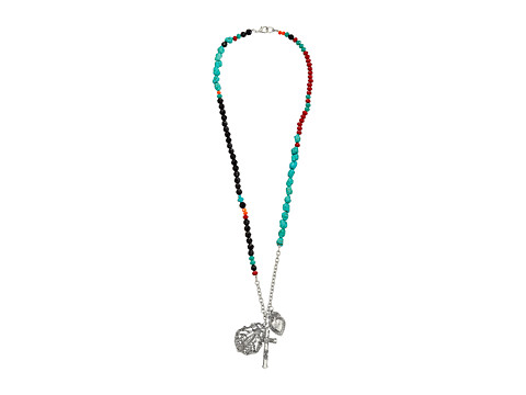 Gypsy SOULE - Heart Cross Necklace (Black/Red/Turquoise) Necklace