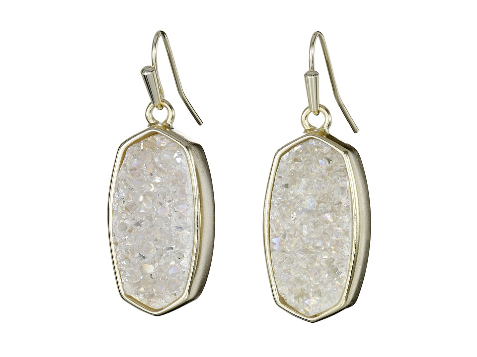 Kendra Scott - Danay Earrings (Gold/Iridescent Crystalized Drusy) Earring