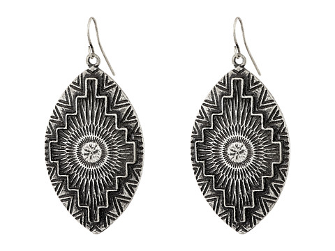 Gypsy SOULE - Aztec Etched Tear Drop Earrings (Silver) Earring