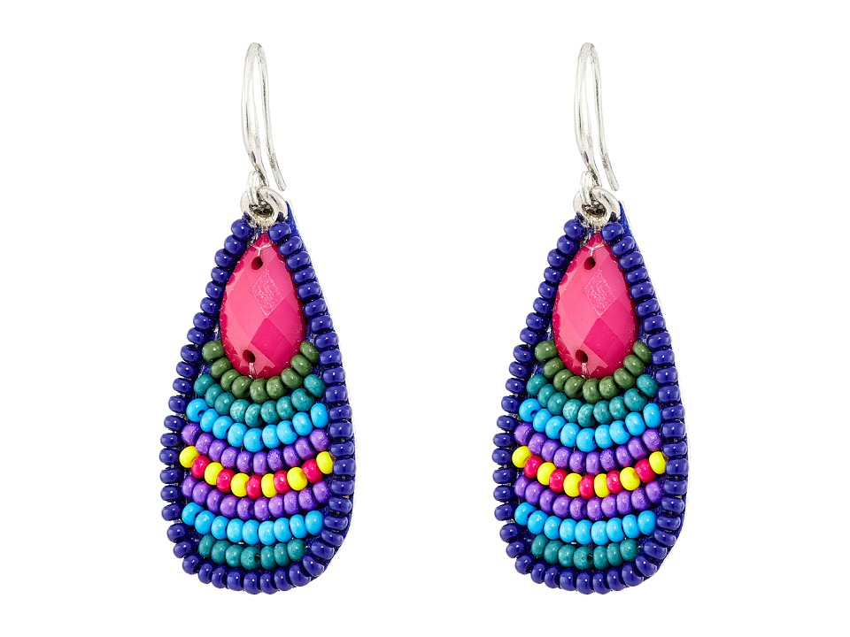 Gypsy SOULE - Stone Bead Teardrop Earrings (Blue/Turquoise/Purple) Earring