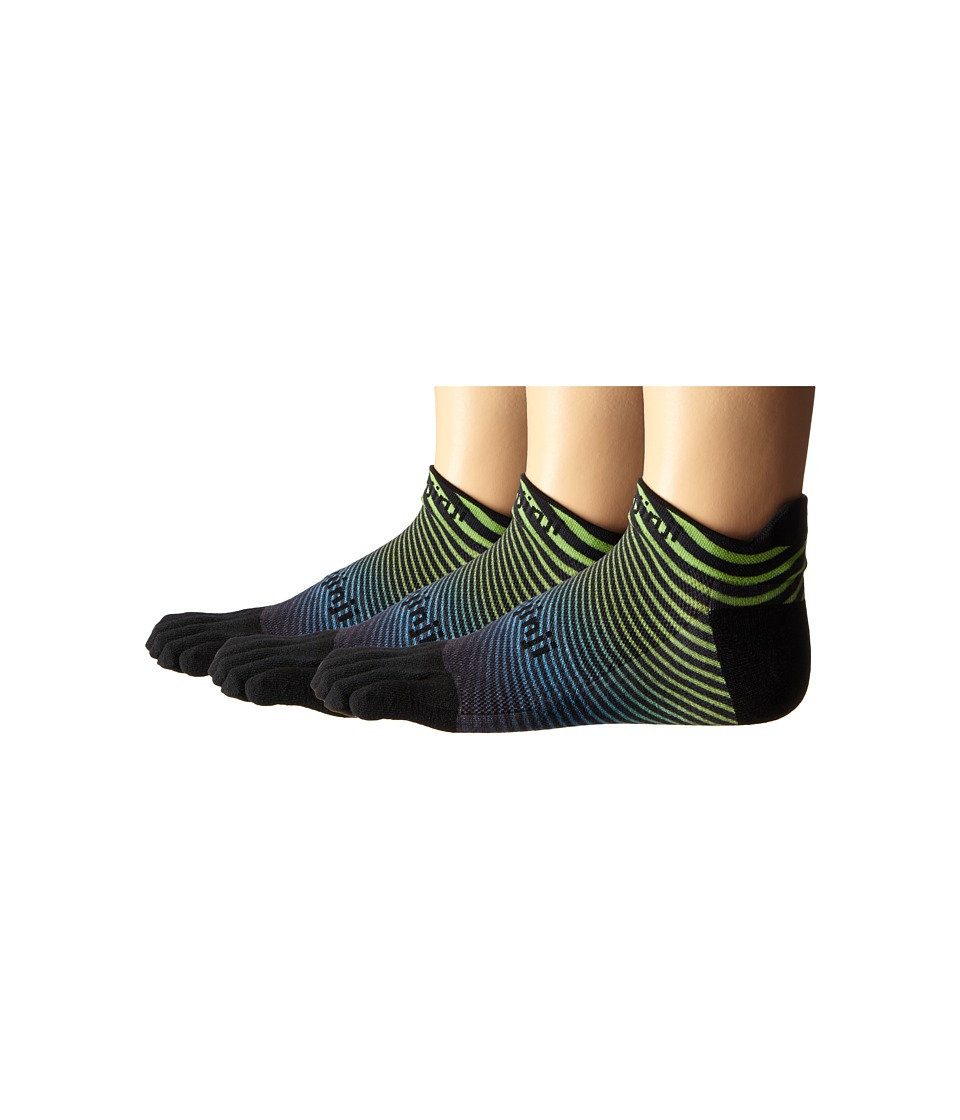 Injinji - Run Lightweight No Show 3-Pack (Neon Wave) No Show Socks Shoes