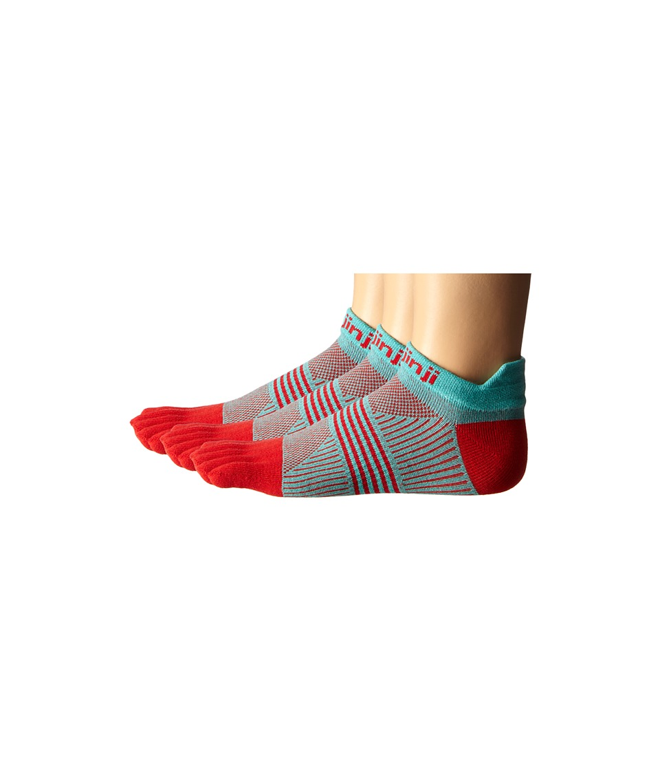 Injinji - Run Lightweight No Show 3-Pair Pack (Peppermint) Women's No Show Socks Shoes