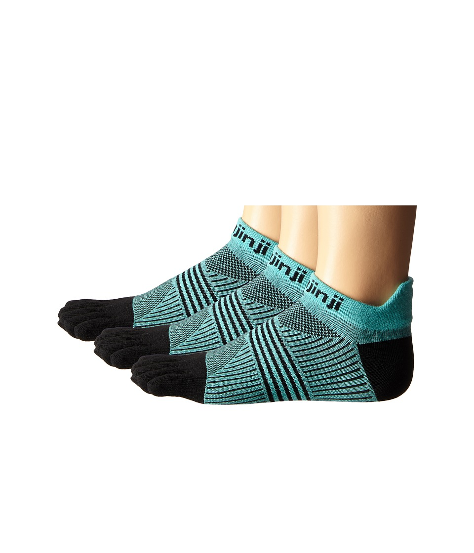 Injinji - Run Lightweight No Show 3-Pair Pack (Dark Mint) Women's No Show Socks Shoes