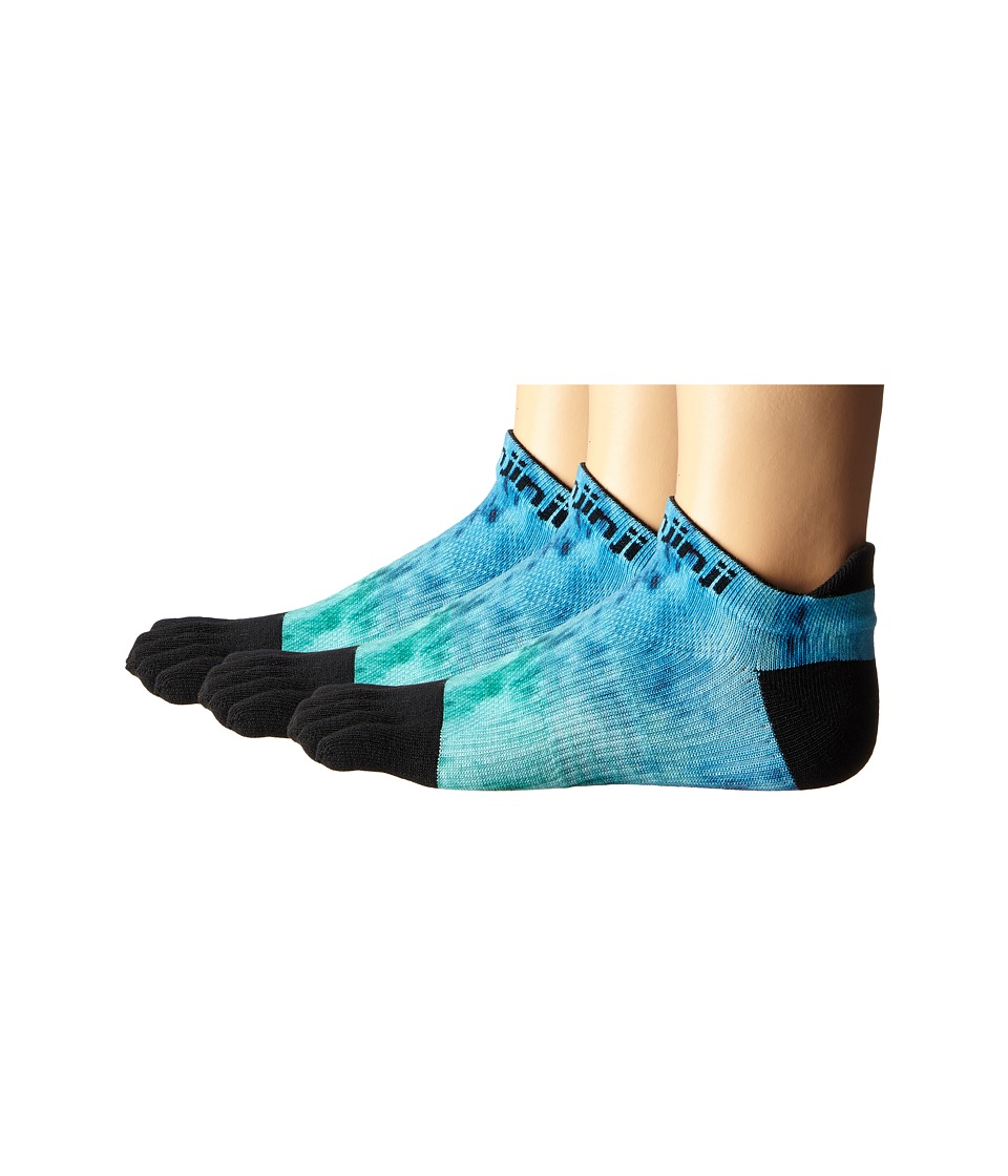 Injinji - Run Lightweight No Show 3-Pair Pack (Open Water) Women's No Show Socks Shoes