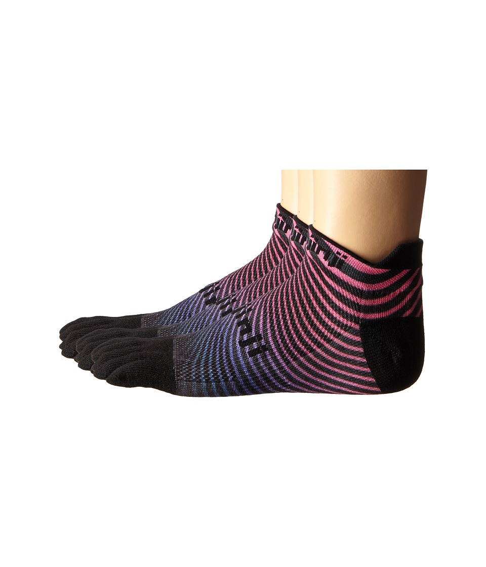 Injinji - Run Original Weight No Show 3-Pack (Fuchsia Wave) No Show Socks Shoes