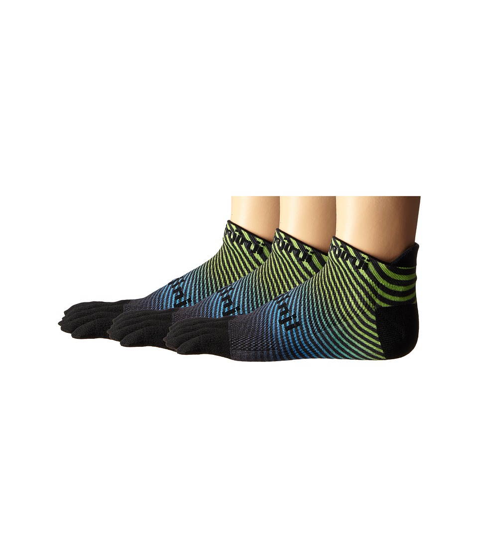 Injinji - Run Original Weight No Show 3-Pack (Neon Wave) No Show Socks Shoes