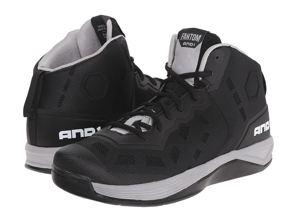 AND1 - Fantom (Black/Silver/White) Men's Basketball Shoes