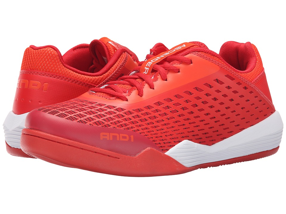 AND1 - Ascender Low (Cherry Tomatoe/Fiery Red/Bright White) Men's Basketball Shoes
