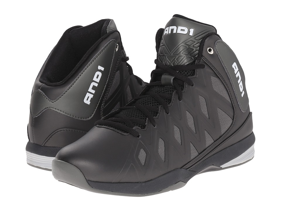 AND1 - Unbreakable (Black/Black/Gunmetal) Men's Basketball Shoes