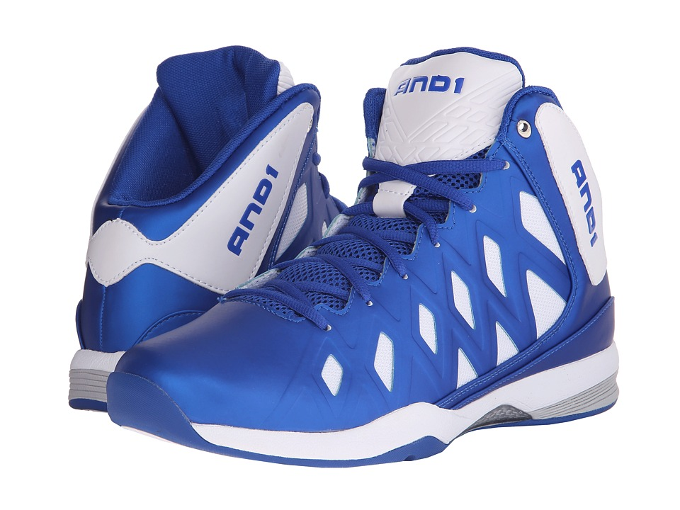 AND1 - Unbreakable (Bright White/Royal/Brigth White) Men's Basketball Shoes