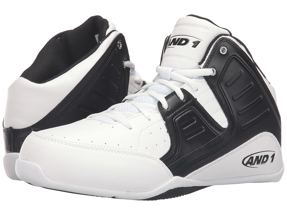 AND1 - Rocket 4 (Bright White/Stretch Limo/Bright White) Men's Basketball Shoes