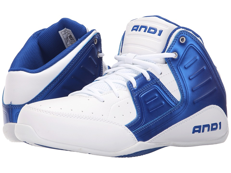 AND1 - Rocket 4 (Bright White/Royal/Bright White) Men's Basketball Shoes