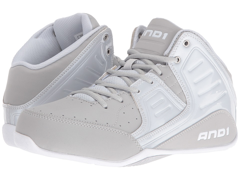 AND1 - Rocket 4 (Glacier Grey/Glacier Grey/Bright White) Men's Basketball Shoes