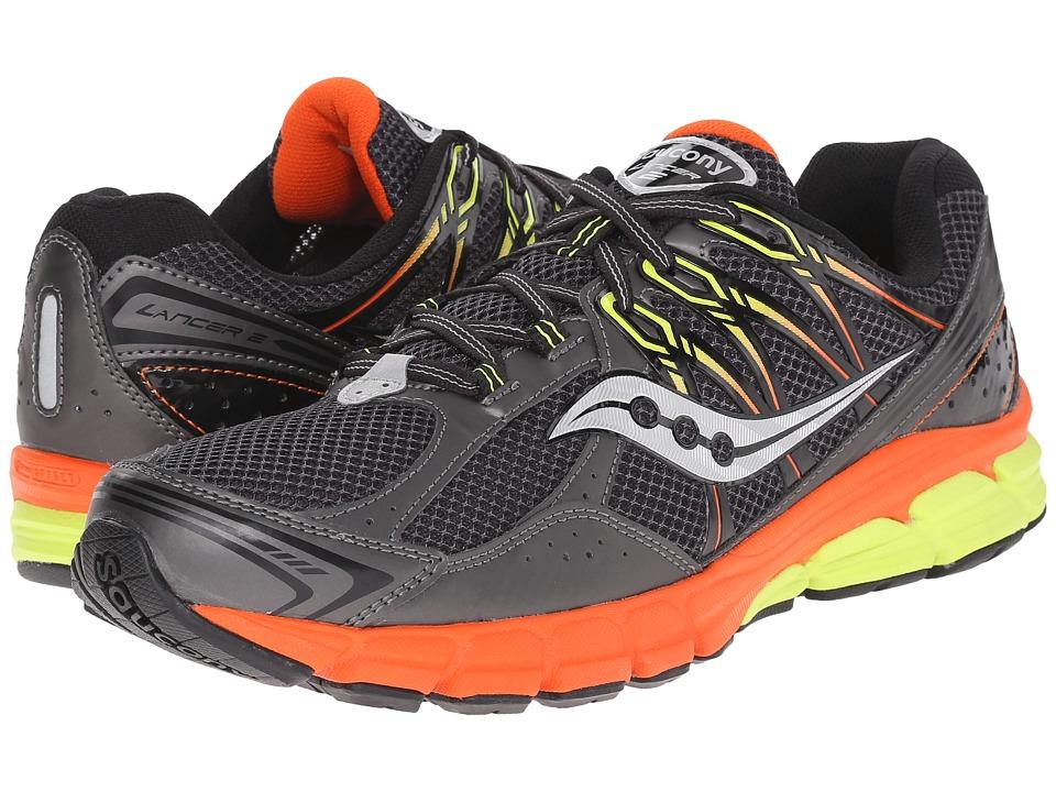 Saucony - Lancer 2 (Grey/Orange/Citron) Men's Running Shoes