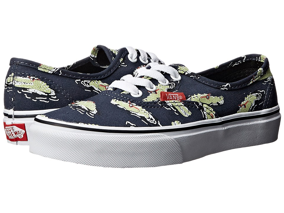 Vans Kids - Authentic (Little Kid/Big Kid) ((Glow in the Dark) Midnight Navy/True White) Boys Shoes