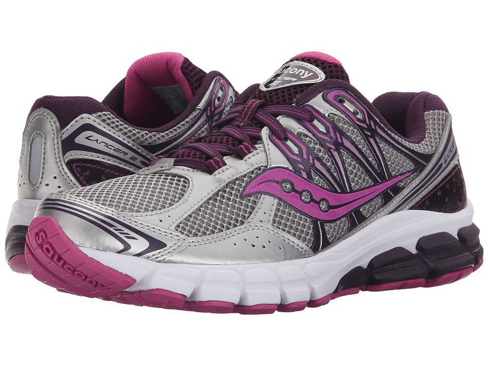 Saucony - Lancer 2 (Silver/Grape/Fuschia) Women's Running Shoes