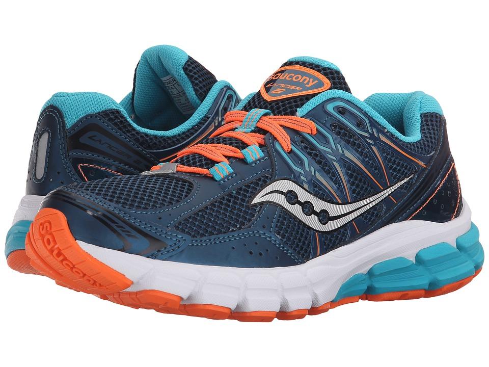 Saucony - Lancer 2 (Teal/Orange) Women's Running Shoes