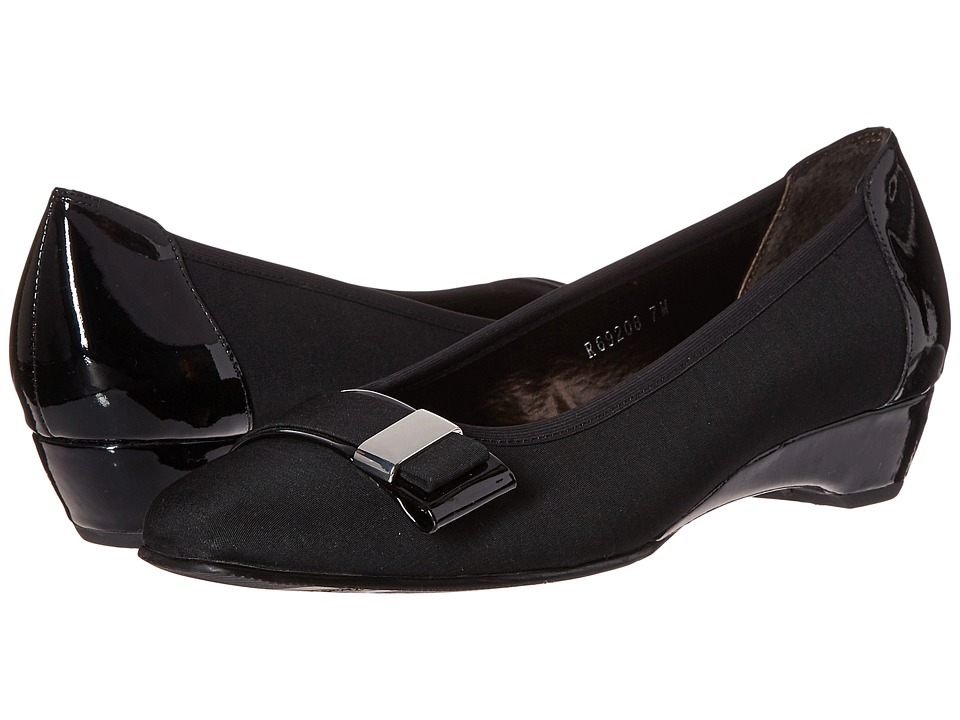 Rose Petals - Brooklyn (Black/Micro Patent) Women's Flat Shoes