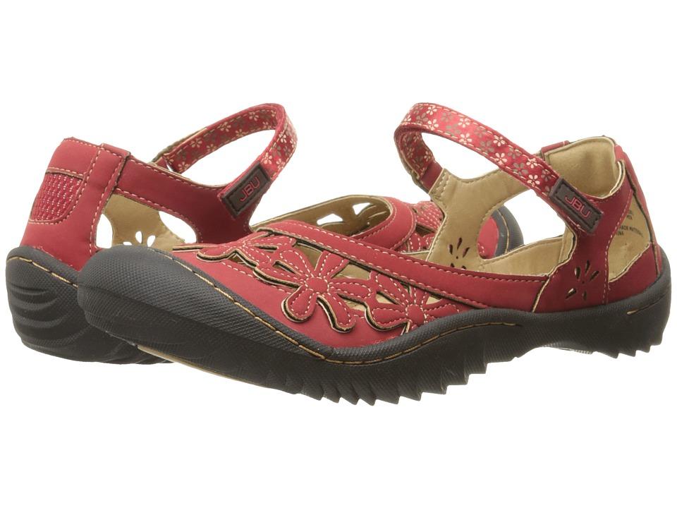 JBU - Wildflower Too (Red) Women's Slip on Shoes