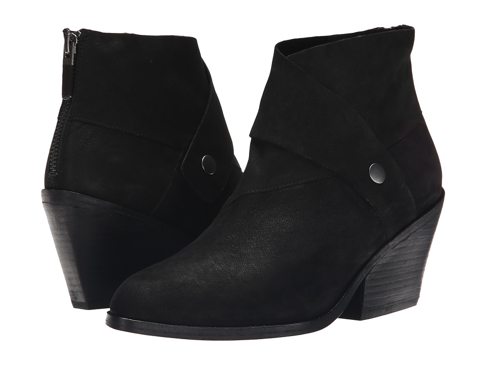 Eileen Fisher - Tag (Black Tumbled Nubuck) Women's Zip Boots