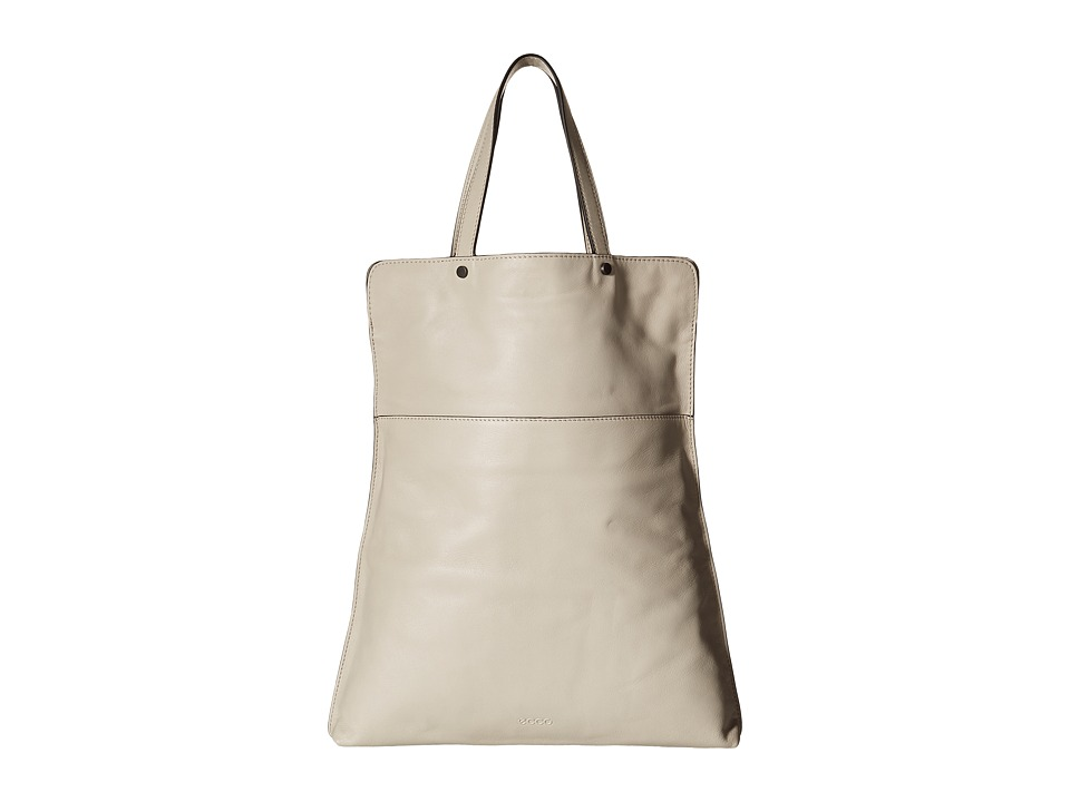 ECCO - Sculptured Folding Tote (Gravel) Tote Handbags
