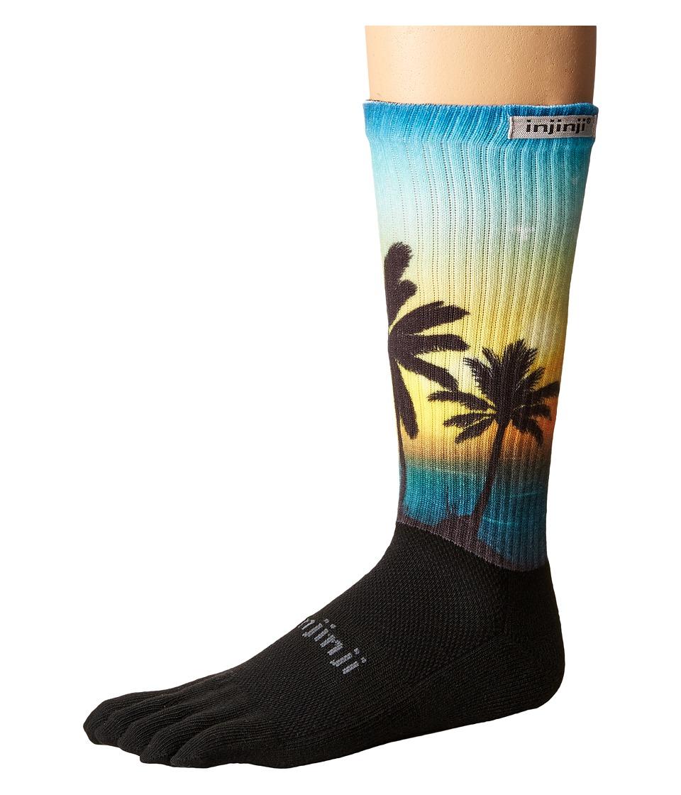 Injinji - Trail Midweight Crew Xtralife Socks (Coastal) Crew Cut Socks Shoes