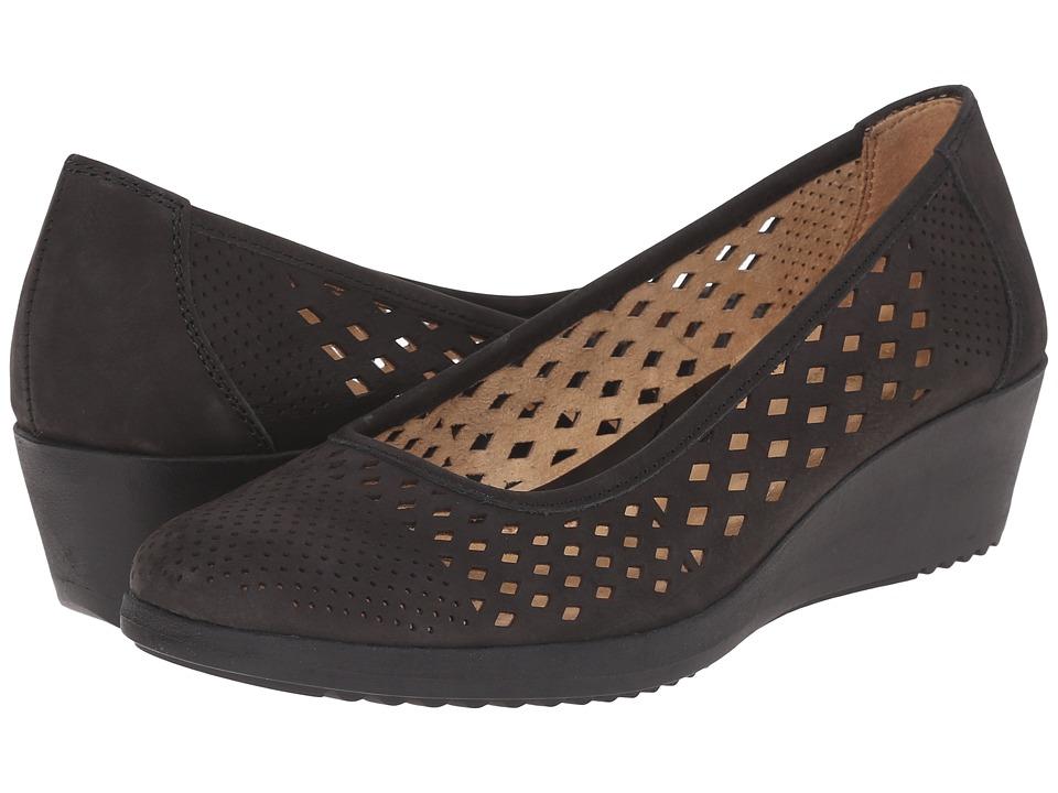 Naturalizer - Brelynn (Black Nubuck) Women's Wedge Shoes