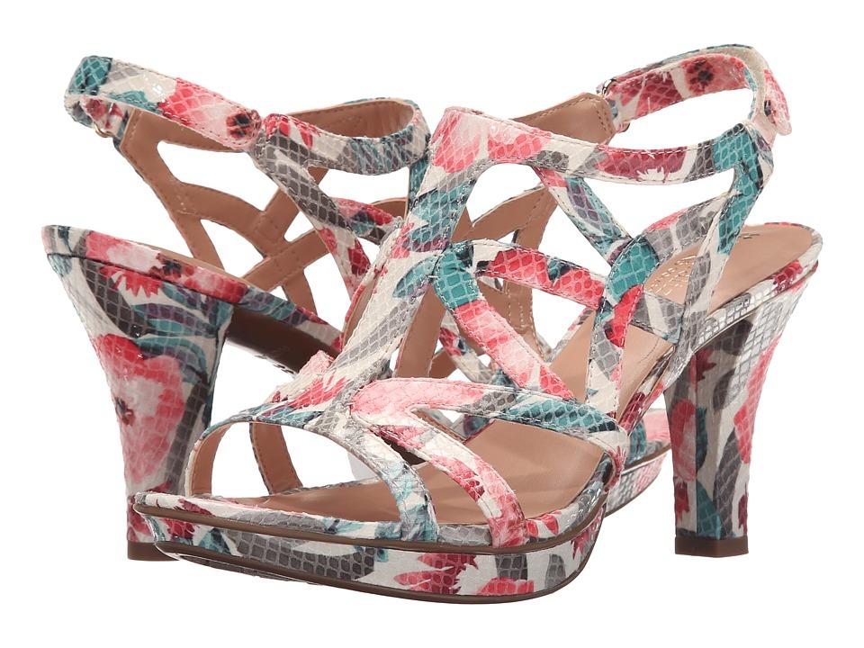 Naturalizer - Danya (Cream Multi Floral Glossy Printed Snake) Women's Sandals