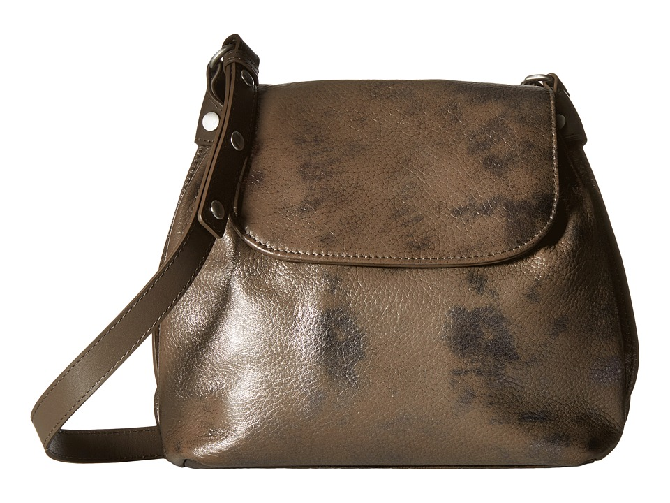 ECCO - Fortine Crossbody (Dark Brown Metallic) Cross Body Handbags