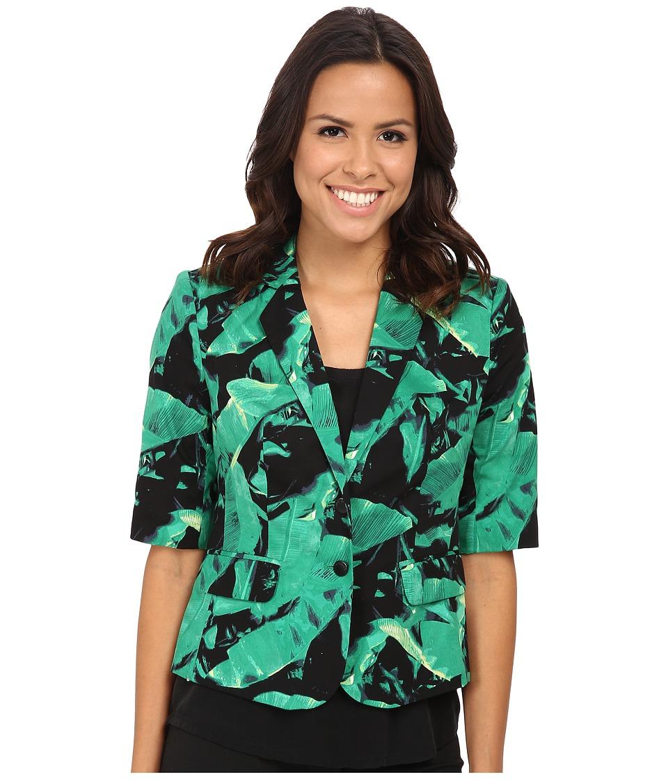 Vince Camuto - 3/4 Sleeve Island Palm Jacket (Cactus) Women