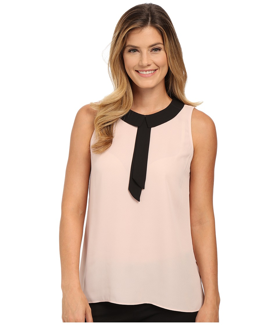 Vince Camuto - Sleeveless Collared Blouse (Rose Dusk) Women's Blouse