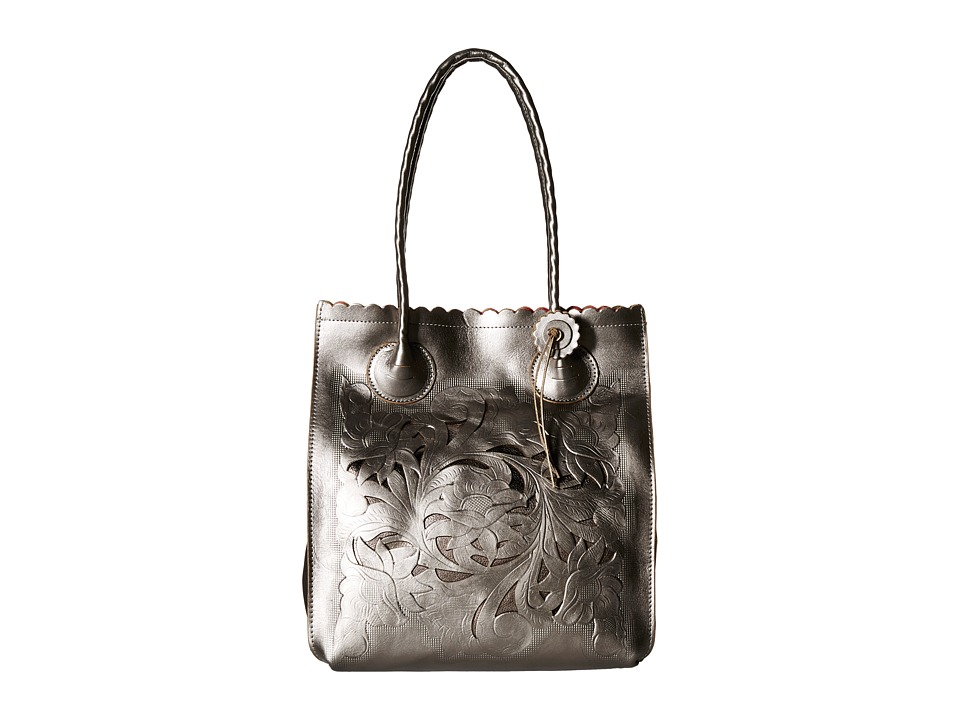 Patricia Nash - Metallic Tooled Cavo Tote (Gunmetal) Tote Handbags