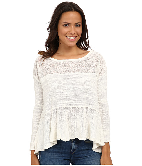 Free People - Kristobel Babydoll Sweater (Eggshell Combo) Women's Sweater