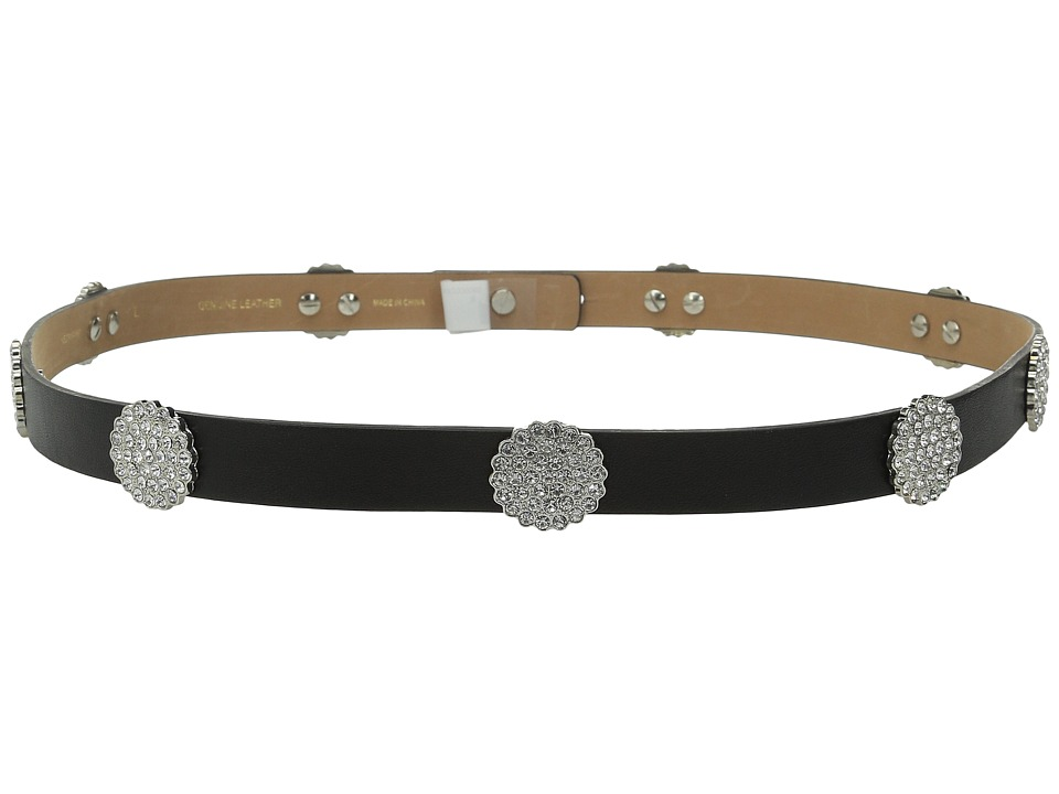 Kate Spade New York - 3/4 Lamb Panel with Disco Ball Rivets All Around (Black/Crystal/Nickel) Women's Belts