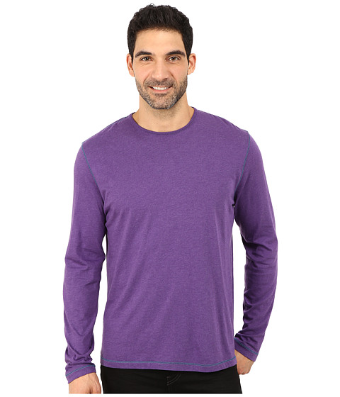 Robert Graham - Riftstone Long Sleeve Crew Neck Knit Pullover (Plum) Men's Long Sleeve Pullover