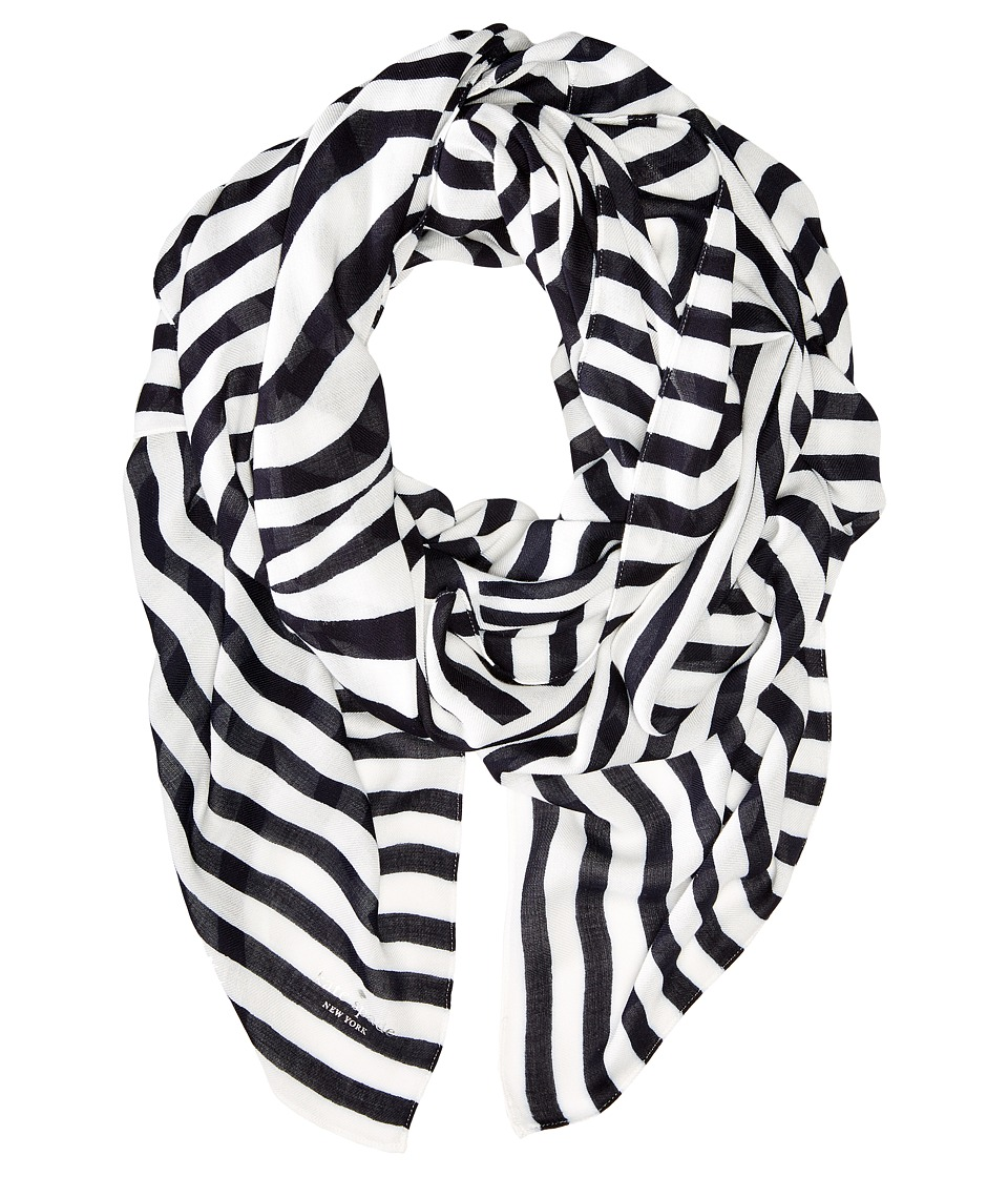 Kate Spade New York - Painterly Bow Oblong Scarf (Rich Navy) Scarves